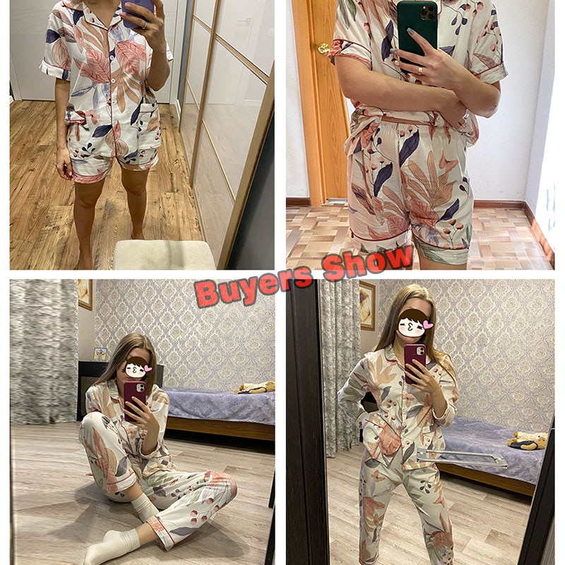 NEW Spring Leaves Printed Women's Pajama Cotton Plus Size Two-piece Set Brief Fashion Long Sleeve Home Clothes Female Sleepwear
