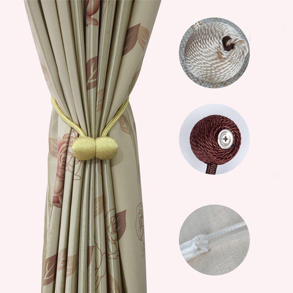 Tiebacks kurtyna klip klamra magnetyczna Holdback Strap Ball Home Living akcesoria do dekoracji pokoju magnetyczny haczyk do zasłony