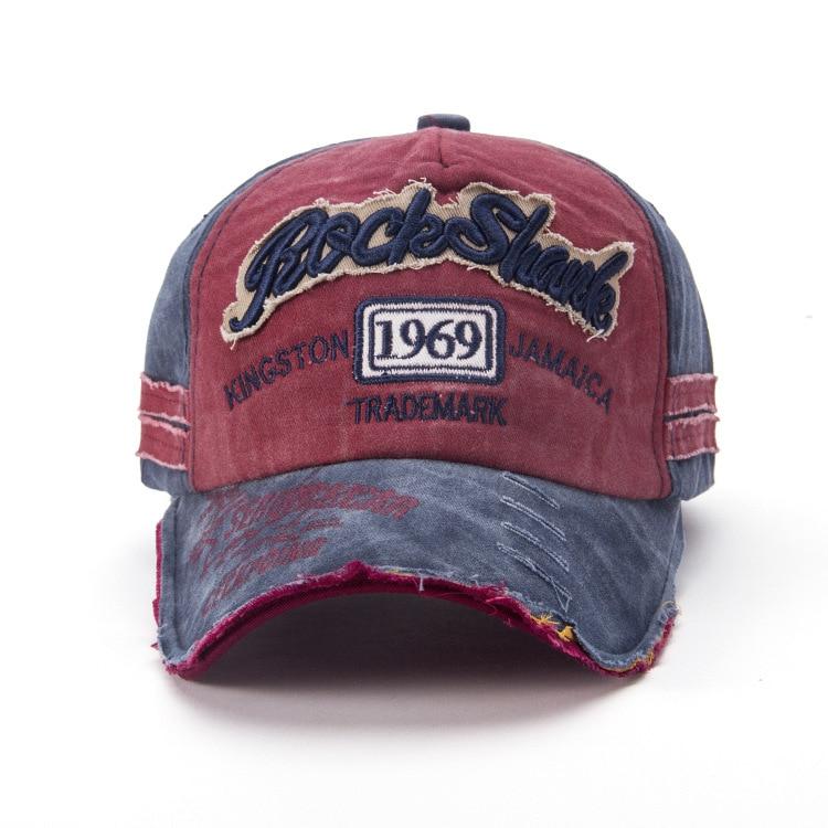 Fashion made old torn baseball caps 1969 sun caps for men torn
