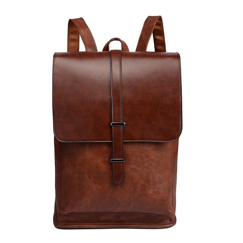 Новый досуг мужской рюкзак для путешествий из искусственной кожи рюкзак, рюкзак для колледжа студенческий ранец сумка для ноутбука