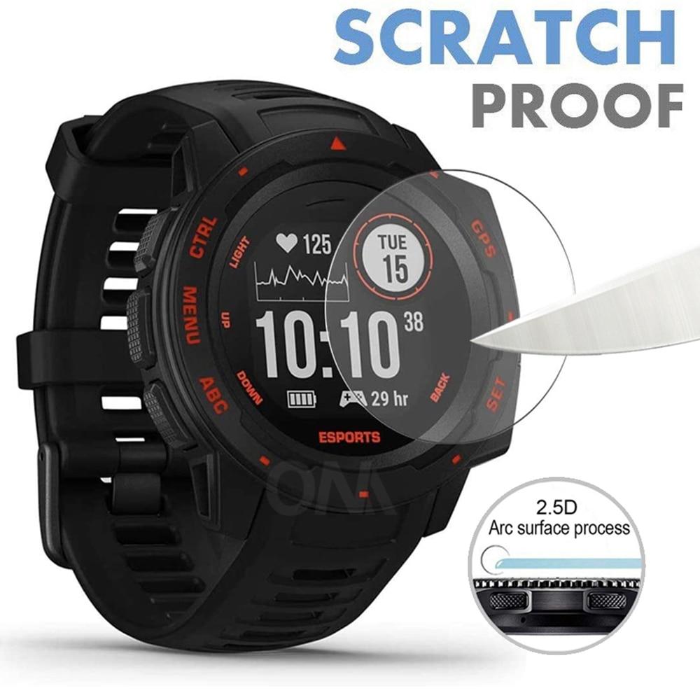 Tempered Glass For Garmin Instinct Sports / Esports Edition / Solar / Marq Golfer Smart Watch Screen Protector Film Accessories