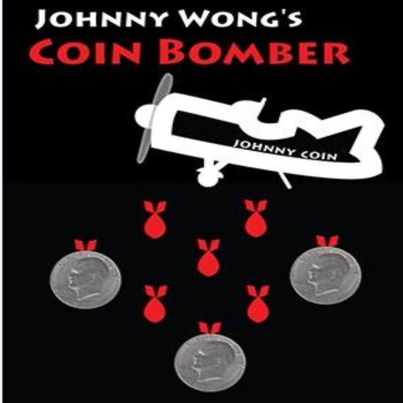 Moneda Bomber (moneda Morgan) de Johnny Wong Coin trucos de magia, magia de escenario, primer plano, ilusión, mentalismo