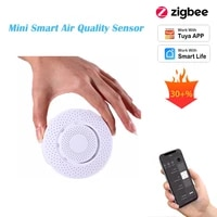 Zigbee 3 Smart Air Detection HCHO VOC CO2 Temperature Humidity Sensor Security Alarm Tuya APP Real-Time Monitor Home Automation
