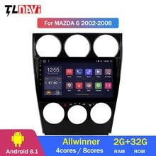 9 zoll Android 8.1 Octa Core auto DVD player für Mazda 6 2002-2008 2G + 32G ROM GPS Navigation Kopf Einheit Stereo Radio
