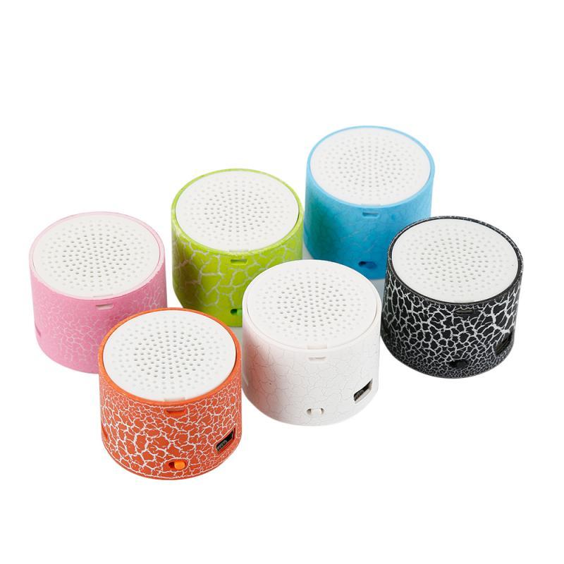 Mini oradores portáteis sem fio de bluetooth para o computador rachadura do telefone móvel led usb rádio fm mp3 som estéreo alto-falante