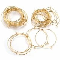 20pcslot gold stainless steel big circle wire hoops round earrings for diy earring charms jewelry making supplies wholesale