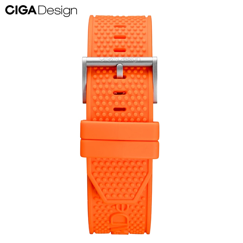 CIGA Design Multicolor Soft Silicone Gear Strap Mens Watches Band Replacement Bracelet for CIGA Mech