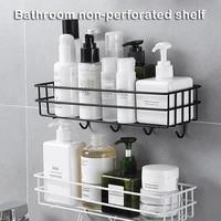 wall mounted bathroom shelf floating punch free corner storage rack kitchen organizer shelves shampoo holder bathroom accessorie
