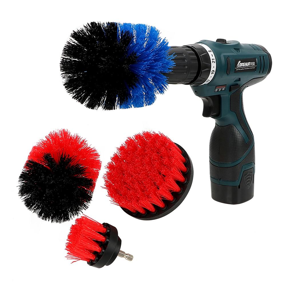 NICEYARD, cepillo para coche, Auto Detailing, 3 unids/set, herramienta de limpieza de cocina, taladro, cepillo de limpieza, Kit de cepillo de cerdas duras para el cuidado del coche