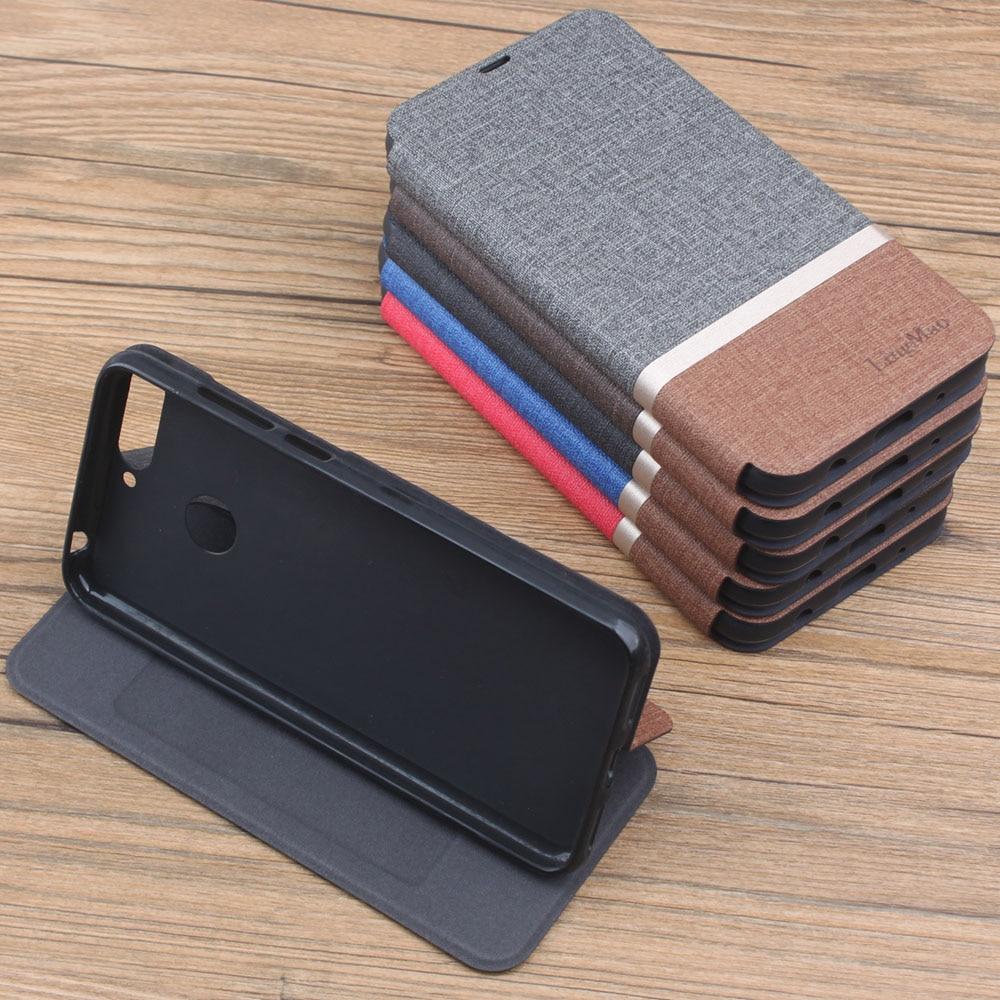 Funda de AUM-L41 para Huawei Honor 7C de 5,7 pulgadas, funda de teléfono de cuero PU tipo billetera para Honor 7C versión rusa, accesorios