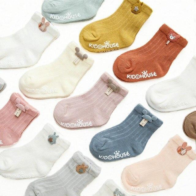 3 Pairs/Lot Infant Sock Cute Cartoon Accessories Baby Socks Dispensing Glue Non-slip Boys Girls Baby Socks Floor Socks Kids Sock