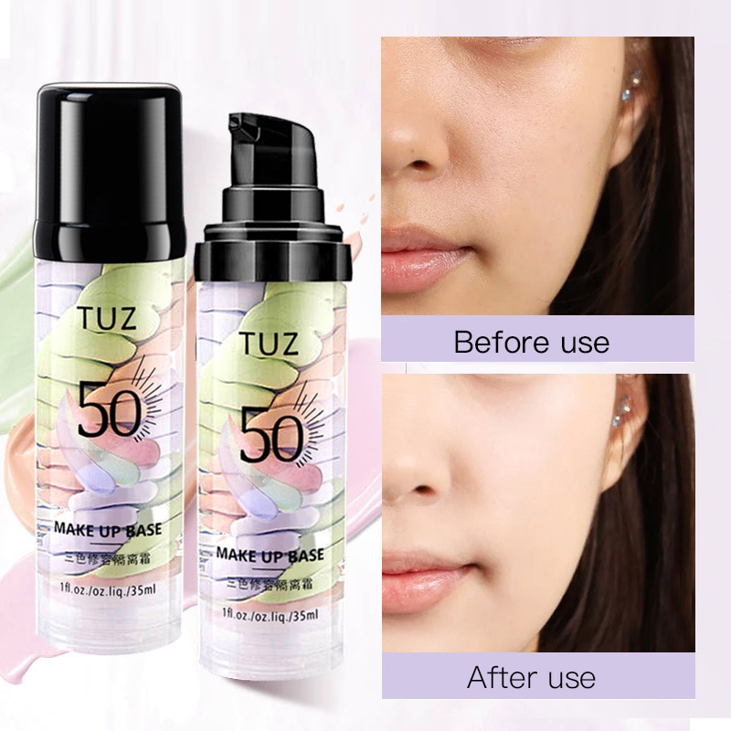3 Colors Repair Isolation Cream Moisturizing Skin Base Makeup Primer Waterproof Oil Control Isolation Concealer Cosmetics TSLM1 недорого