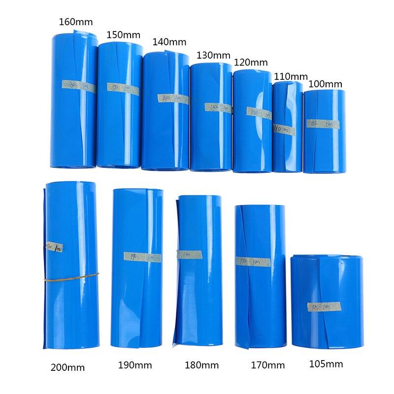 1M Li-ion Battery Heat Shrink Tube Wrap Skin Pvc Shrinkable Film Tape Sleeves