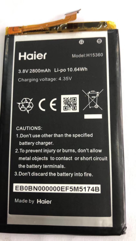 ¡Novedad! Batería de repuesto H15360 de 2800mAh/10,64 WH, 3,8 V, para Haier H15360, batería recargable de teléfono incorporada