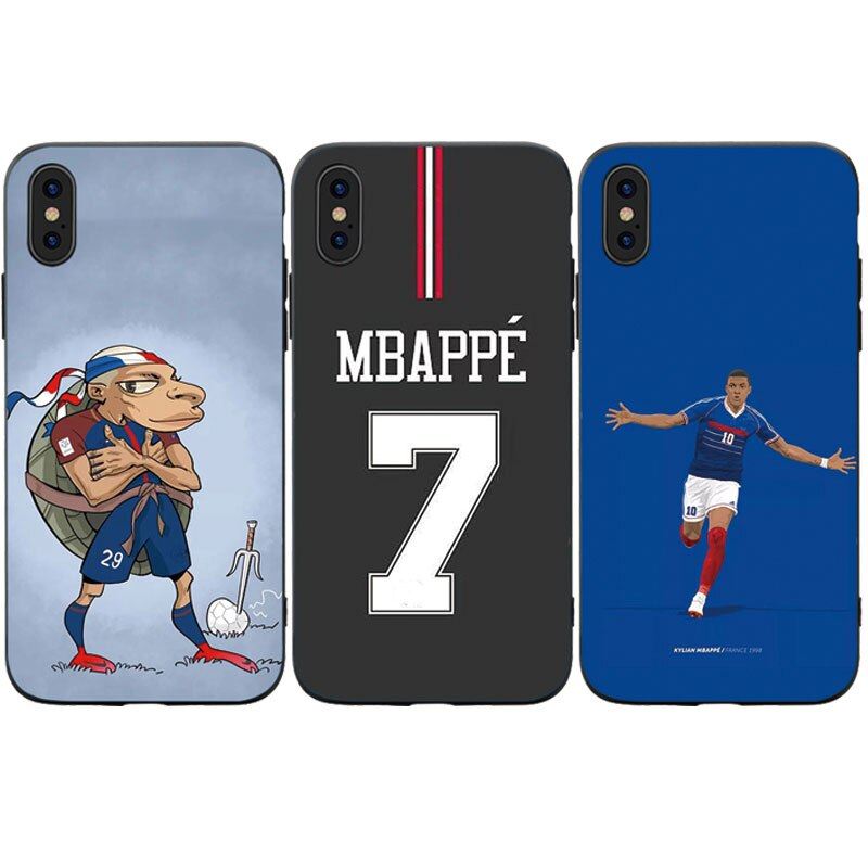 Funda de teléfono de moda de silicona suave Jersey de estrella de fútbol para Iphone 5S SE 6 6S 7 8 Plus X XS XR 11 Pro Max TPU