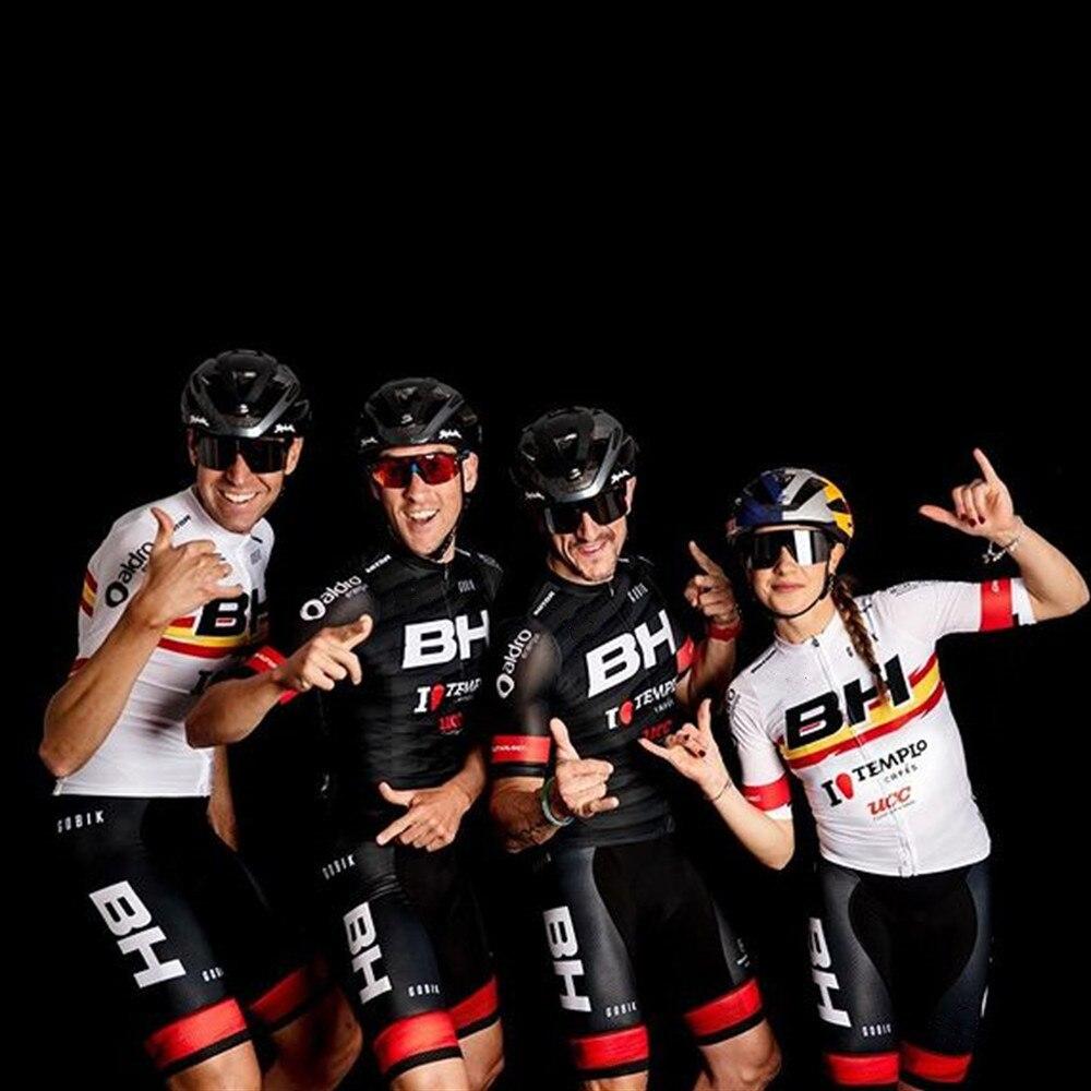 Burggos-Conjunto de Jersey de Ciclismo para hombre, traje de manga corta, Maillot,...