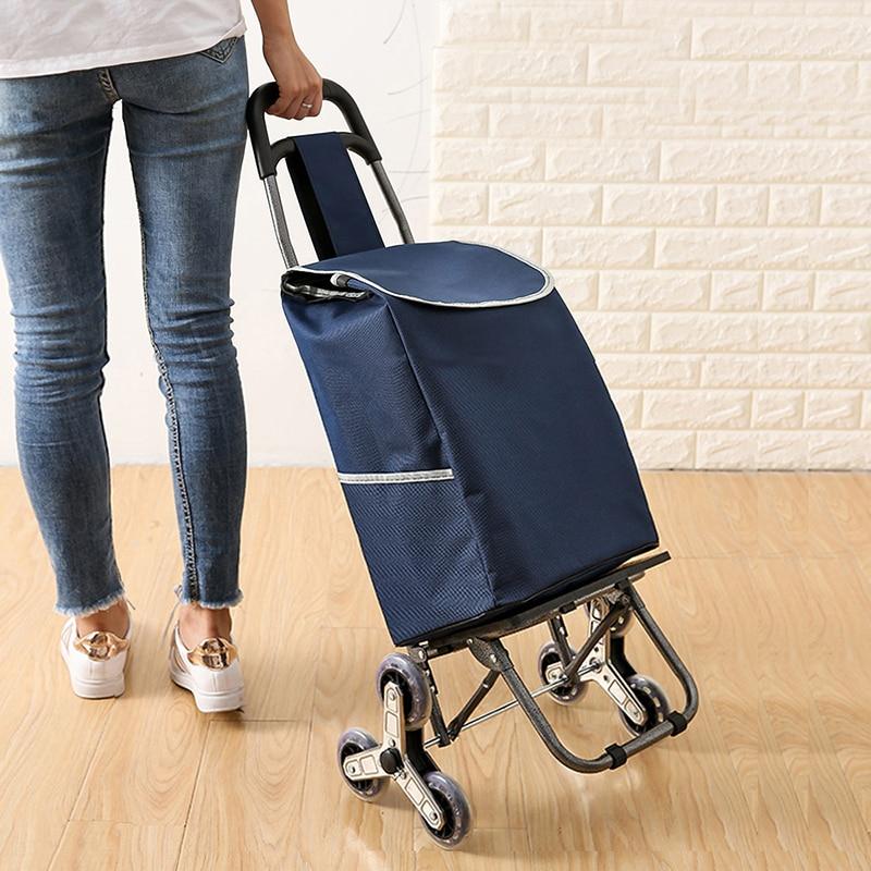 Наверх корзина больших товаров чемодан на колёсиках, складная палатка тележка бытовой портативный хозяйственная сумка для женщин