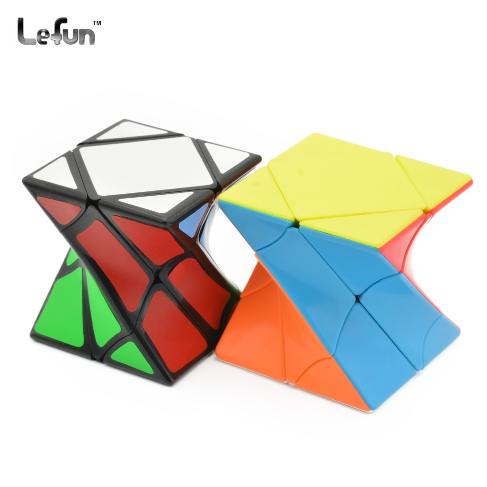 LeFun torsión inclinación Cubo mágico negro seguro de velocidad ABS Cubo mágico 6cm competencia 3x3 extraño Forma 1 Uds