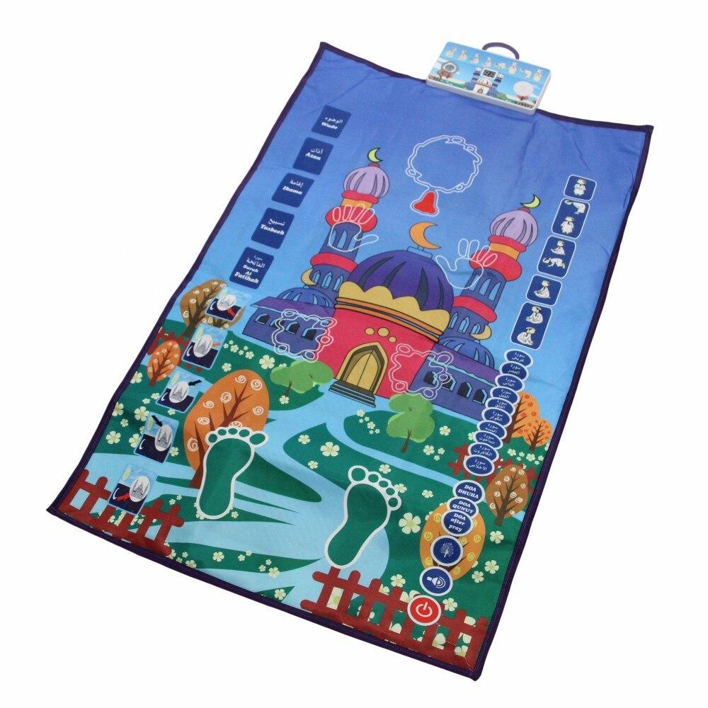 5 uds. Alfombra interactiva de oración islámica para niños, alfombra interactiva de oración musulmana, tapis de priere Islam, esteras de oración para niños, salón de oración