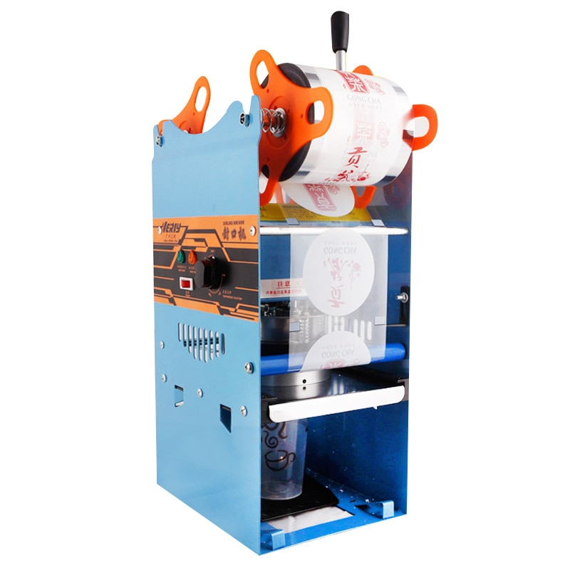 WY-802F الشاي آلة تخمير البيرة 9.5 سنتيمتر كوب 220 فولت/50 هرتز دليل كأس ختم آلة القهوة/الشاي تخمير كوب ختم آلة