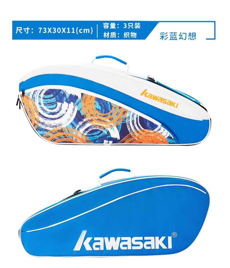 Kawasaki Racket Should Racquet Sports Badminton Bags Single Shoulder (for 3 Rackets) Tennis Women Bag Portable Sports Bag 2021