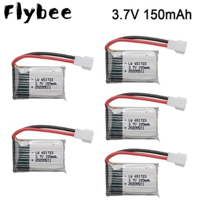 3.7v 150mah Drone Battery For H8 For Syma x2 for Nihui U207 For Eachine E010 Battery RC Quadcopter Spare Parts 5pcs/lot