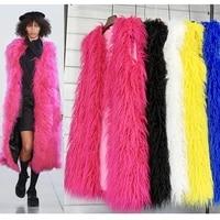 trodeam 2021 new fashion autumnwinter longer sleeveless faux beach wool fur waistcoat warm vests womens waistcoat jackets
