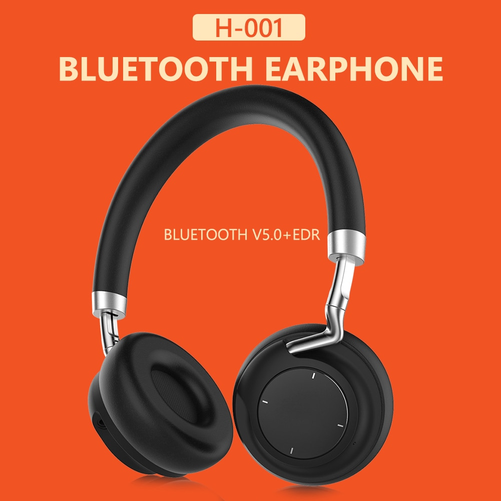 H-001 On Ear Bluetooth Headphones Stereo Headset with Mic Wireless Wired Mode Easily Carrying Lightw