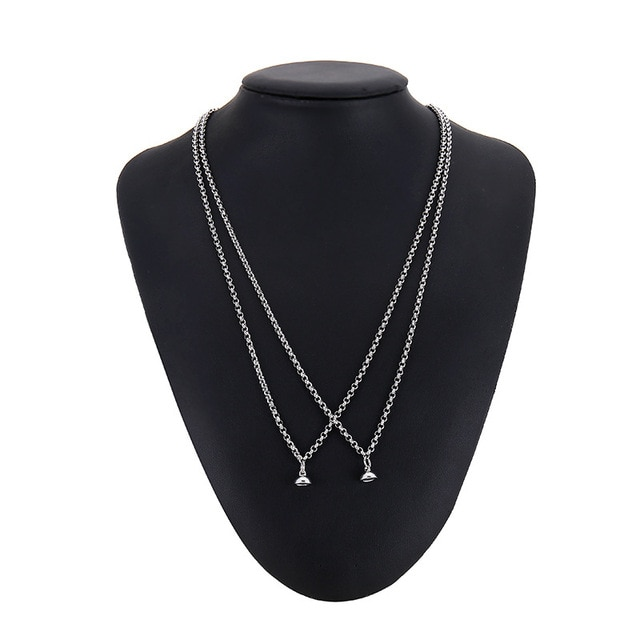 2pcs Set Couple Pendant Necklace Infinite Love Paired Coupling Magnetic Clasp Chain Necklaces for Women Men Fashion Jewelry