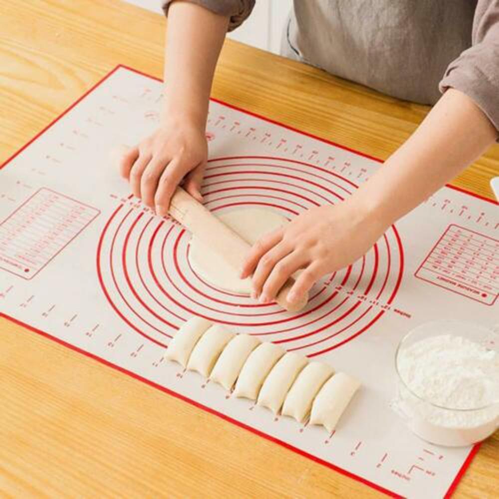 New Baking Mat Kneading Mat Silicone Mat Large Cutting Board and Dough Mat Thickened Baking Kneading Mat Non-stick Mat