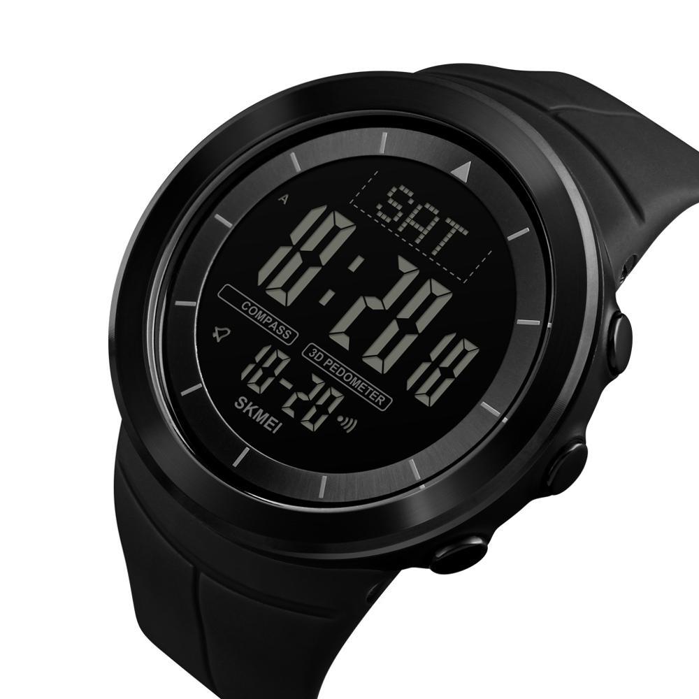 SKMEI-ساعة رياضية رقمية للرجال ، سوار بوصلة مقاوم للماء ، عداد السعرات الحرارية ، عداد الخطى ، 1403