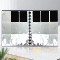 4 9 Grids Transparent Photo Album Photo Protective Page Storage Gifts Card Replaceable Loose-leaf Bag Mushroom Cover Hole S7P0