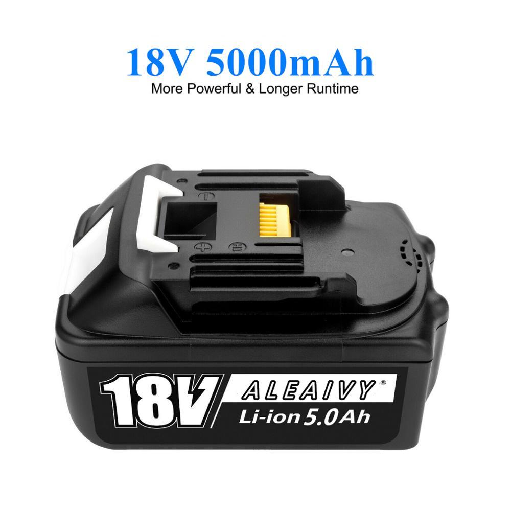 Original 18V 5,0 Ah Akku Li-Ion Batterie Ersatz Werkzeug Akku für MAKITA BL1880 BL1860 BL1830 + 3A ladegerät