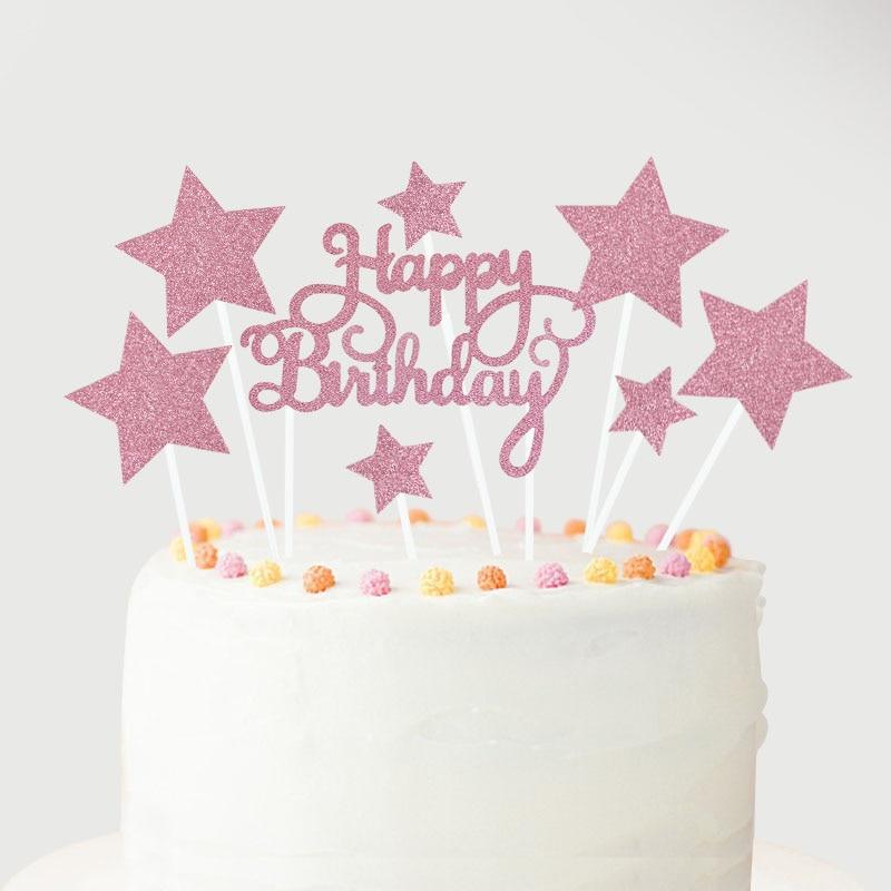 1 Set Balloon Cake Topper Star Heart Confetti Balloon Birthday Party Dessert Decoration Baby Shower Wedding Decor Cake Supplies