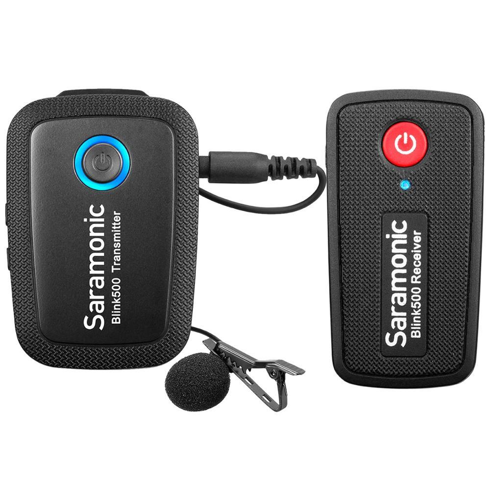 Micrófono de solapa inalámbrico para teléfono DSLR Saramonic Blink500 B1 B2 B3 B4 B5 B6