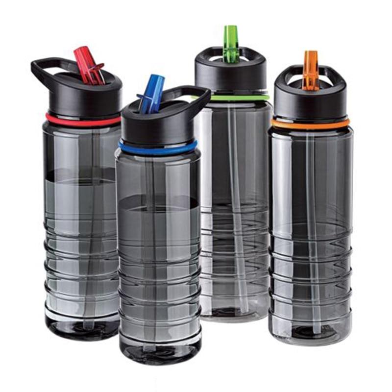 750ML Outdoor Water Bottle Drinks Water Bottle Bike Drink Bottle with Lid Hiking Camping Plastic Water Cup Random Color