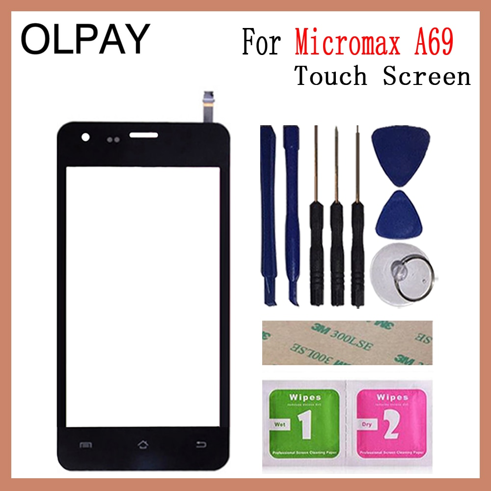 Touch Screen Sensor Digitizer Panel For Micromax A69 Front Glass Screen Touch Touchpad 4.5