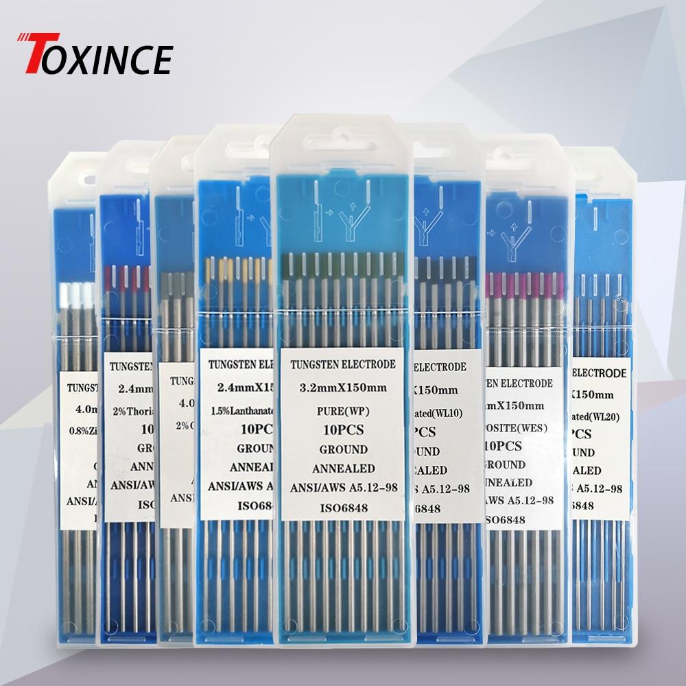 Profession Tungsten Electrodes Welding Electrodes WT20 WP WC20 WL20 WL15 WL10 WZ8 WES Tig Argon Welding Rod