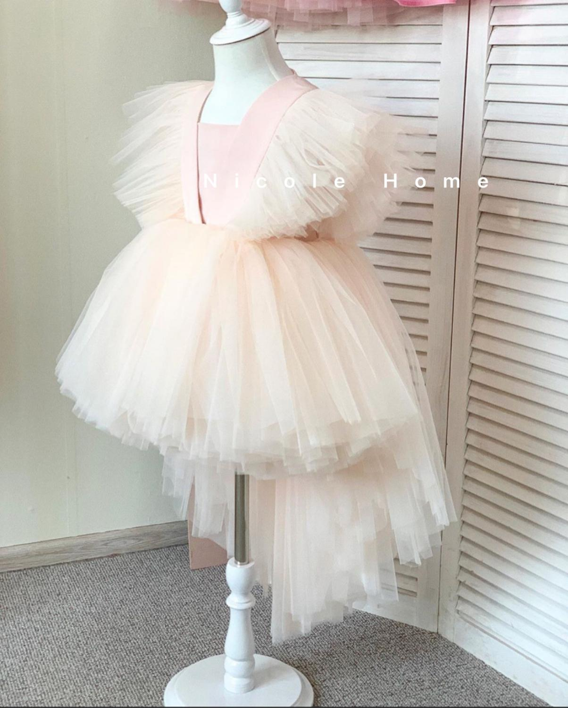 1st Birthday Dress Wedding Party Girls Dress Ruffle Sleeve Elegant Princess Kids Dresses For Girl Lace Teenage Girls Gowns 1-14Y enlarge