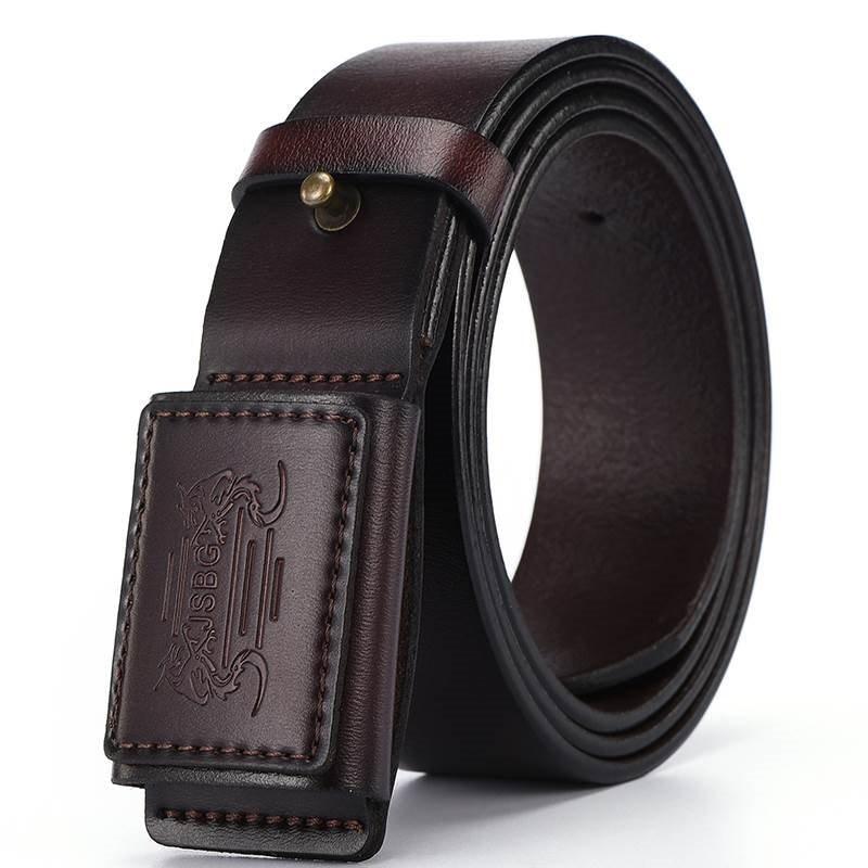Cinturón directo de fábrica, venta al por mayor, cinturón resistente a las alergias de Metal a prueba de explosiones, cinturón liso con hebilla, cinturón para hombres