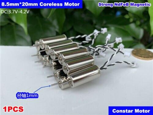 8520 8.5mm * 20mm ultra-alta velocidade forte ímã coreless drone motor dc 3.7v 4.2v 48000rpm