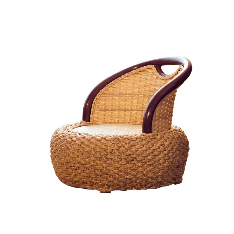 اليابانية الروطان Zaisu بلا أرجل كرسي اليدوية الروطان المنسوجة الطابق الجلوس تاتامي كرسي ل خليج نافذة السرير أريكة استرخاء التأمل