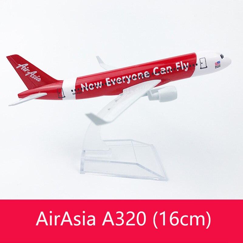 Envío Gratis 16CM A320 AIR ASIA aleación de METAL modelo avión juguete modelo de avión regalo de cumpleaños
