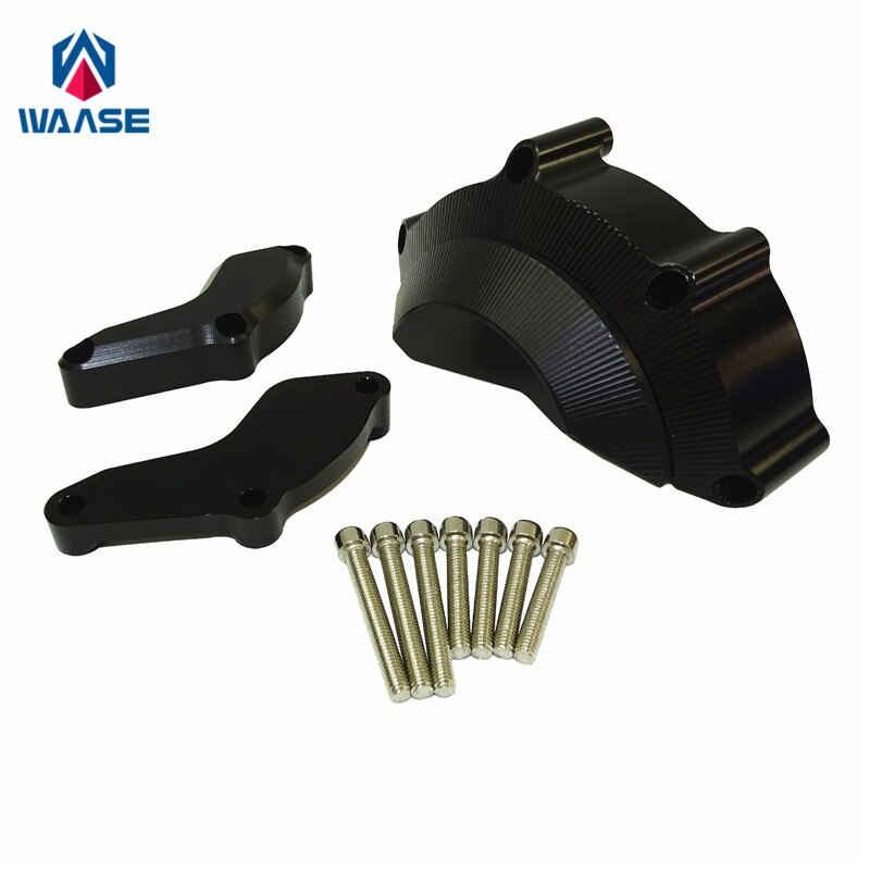 Waase para Yamaha YZF R6 2008, 2009, 2010, 2011, 2012, 2013, 2014, 2015, 2016 y parte derecha del motor almohadillas de tope deslizadores de marco de Protector