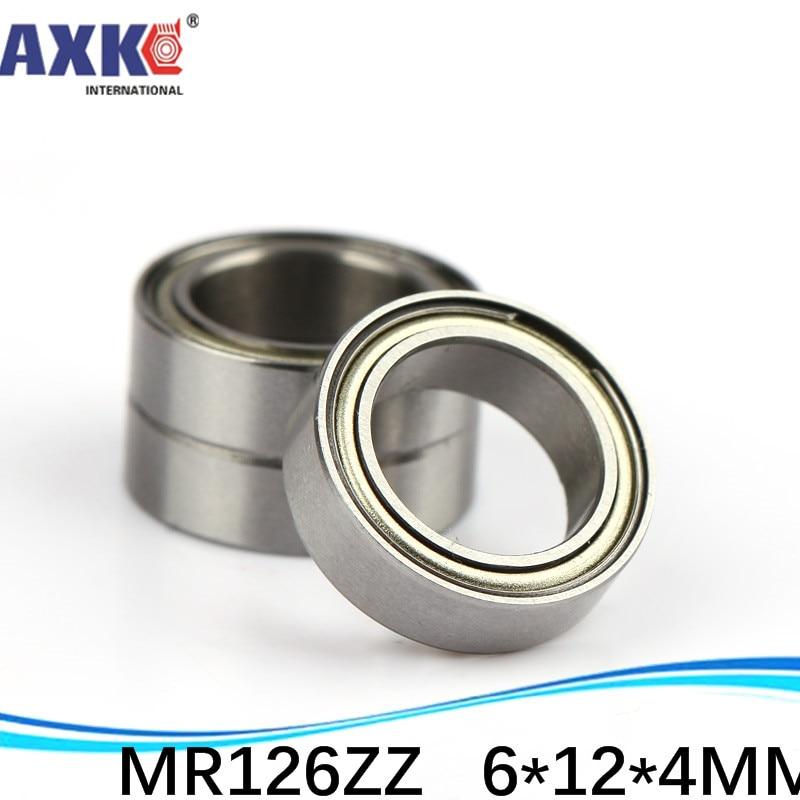 AXK 500 unids/lote envío gratis al por mayor rodamientos de bolas de ranura profunda en miniatura con doble blindaje MR126ZZ 6*12*4mm