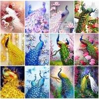 EverShine     peinture diamant Animal 5D  bricolage  broderie paon  image en strass perles  decor artistique pour la maison