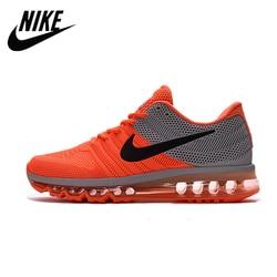 Nike air max 2017 nike tênis de corrida palma cheia nano disu tecnologia esportes sapatos masculinos tênis quentes laranja cinza 40-45