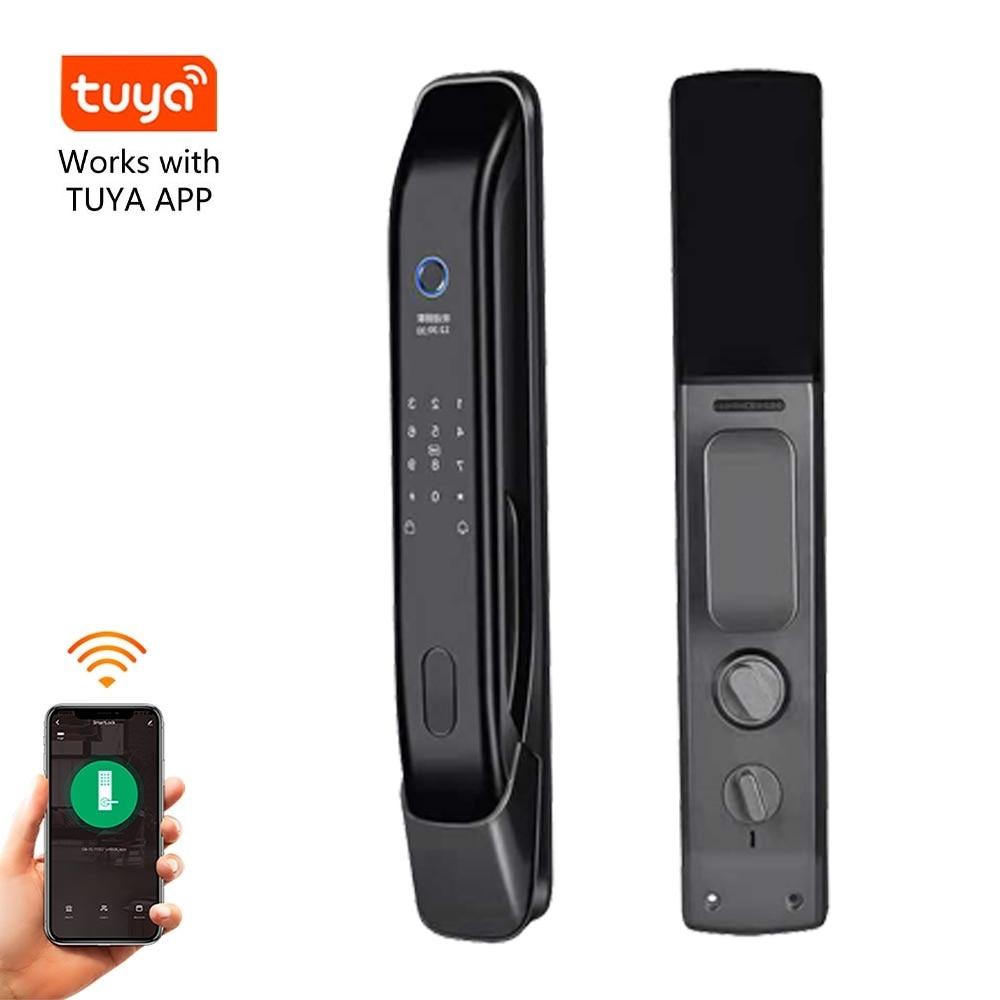 Promo Best sell amazon Tuya wifi app Cerradura inteligente Smart Electronic password Deadbolt Digital fingerprint lock app remote lock
