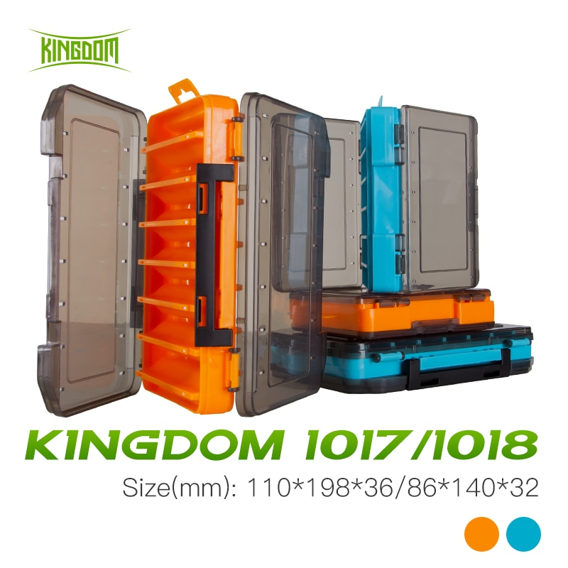 Kingdom Plastic Fishing Box  12  14 Compartment High Strength Double Sided Bait  Fishing Accessories Storage Fishing Tackle Box