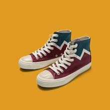 Homme Canvas Chaussures Couleurs Mélangées Rouge Gris Baskets Chaussures de Skateboard Unisexe chaussures décontractées lovers Tous Les Match Mode Femmes Fille Chaussures